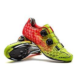 SANTIC Road Cycling Shoes Ultralight Carbon Fiber Sole Self-