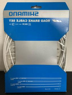 Shimano Road PTFE Brake Cable & Housing Set White
