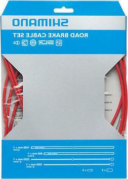 Shimano Road PTFE Brake Cable & Housing Set Red