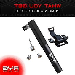 RYG Mini Bike Pump with Mounting Bracket, Portable Bicycle T