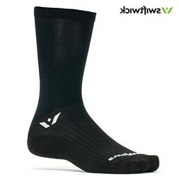 Swiftwick - ASPIRE SEVEN, Crew Socks for Cycling, Black, Med
