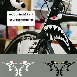 Shark Mouth Sticker for Bicycle Frames Head Tube MTB Road Bi