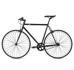 6KU Shelby 2 Fixed Gear Bicycle, Black/White, 58cm