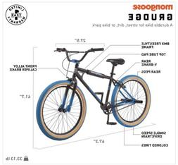 SHIPS TODAY! Mongoose Grudge BMX Freestyle Bike 26 Inch Whee