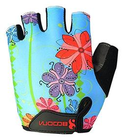 BOODUN Women's Shock-Absorbing Gel Pad Breathable Half Finge