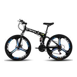 Omeng Shock speed mountain bike bicycle folding aluminum all