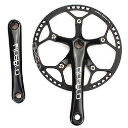 Single Speed Crankset Set 53T 170mm Crankarms 130 BCD Litepr