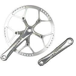 Single Speed Crankset Set 56T 170mm Crankarms 130 BCD Litepr