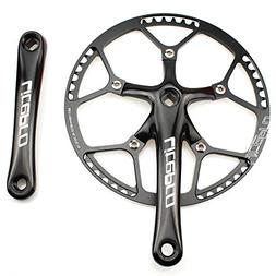 Single Speed Crankset Set 58T 170mm Crankarms 130 BCD Litepr