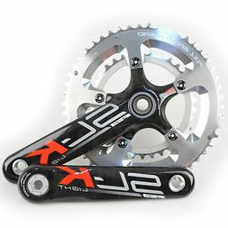 FSA SL-K Light BBright Carbon Road Bike Crankset 50//34 10 Speed 170mm////Silver