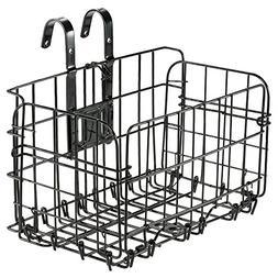 Folding Rear Bicycle Basket ,Steel Basket for Bike, Detachab