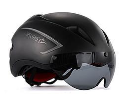 EyeGlow Stylish Adult Road Bike Helmet with Visor Protector
