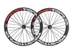 SuperTeam Carbon Disc Wheelset Road Bike 700C 50mm Clincher