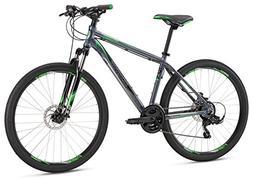 "Mongoose Men's Switchback Sport 27.5"" Wheel, Silver, 18 inch"