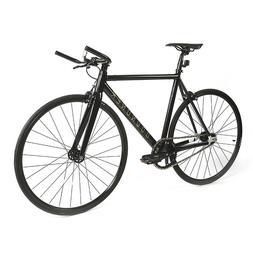 Track Bike 700C Fixie Road Bike Bullhorn Aluminum Fixed Gear