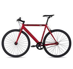 6KU Track Fixed Gear Bicycle, Burgundy/Black, 47cm