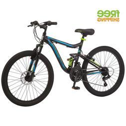 "24"" Mongoose Boys Trail Blazer Mountain Bike Full Suspension"