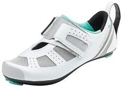 Louis Garneau Women's Tri X-Speed 3 Triathlon Bike Shoes, Wh