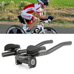 Black Top Home Dec TT Handlebar Aero Bars Triathlon Time Trial Tri Cycling Bike Rest Handlebar for Bicycle Aerobars Moutain Bike or Road Bike