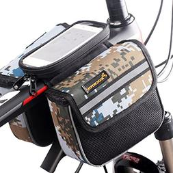 Top Tube Bag, Waterproof Bicycle Front Frame Pannier Bag for