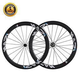 ICAN 50mm Tubular Carbon Road Bike Wheelset Shimano 10/11 Sp