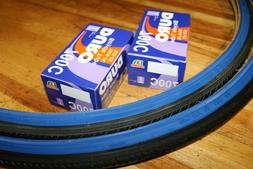 TWO 700x25C DURO BICYCLE TIRES PURPLE & 2 TUBES ROAD FIXIE T