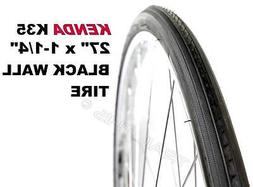 "Two x Kenda K35 BLACK Wall 27 x 1-1/4"" Road Bicycle Tires W"