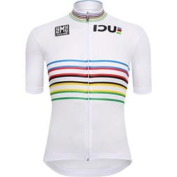 Santini UCI Masters World Champion Jersey - Men's One Color,