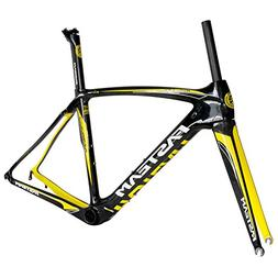 Fasteam UD Clear Coating Yellow Carbon Bike Frame for Road B