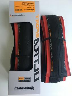 Continental Ultra Sport III 700x25 Black/Red Folding PureGri