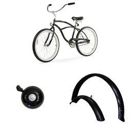 "Firmstrong Urban Man 24"" 1-Speed Beach Cruiser Bicycle, plus"