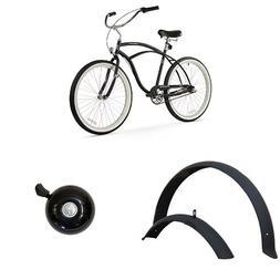 "Firmstrong Urban Man 26"" 3-Speed Beach Cruiser Bicycle, plus"