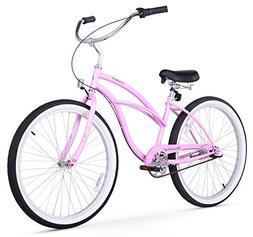 "Beachbikes Girl's Urban Lady 24"" 3 Speed Beach Cruiser Bike"