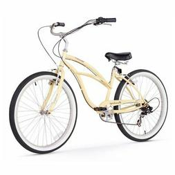 Firmstrong Urban Lady 7-Speed Beach Cruiser Bicycle, 26-Inch