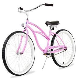 Firmstrong Urban Lady Single Speed Beach Cruiser Bicycle, 26
