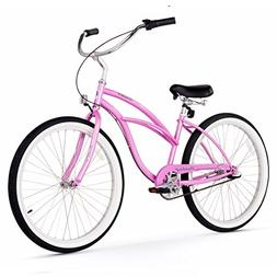 Firmstrong Urban Lady 3-Speed Beach Cruiser Bicycle, 26-Inch