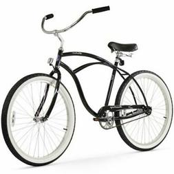 "Firmstrong Urban Man Single Speed, Black - Men's 26"" Beach C"
