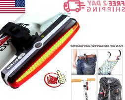 USB Rechargeable Bike Tail Light Fits On Any Road Bikes Rear