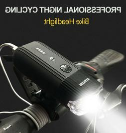 USB Rechargeable Cree LED Front Bicycle Lamp Bike Head Light