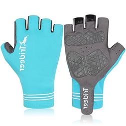 Trideer UV SUN PROTECTION Cycling Gloves, Half-Finger Mounta