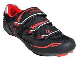 Gavin Men's VELO Road Bike Cycling Shoe, Black/Red, 41 EU