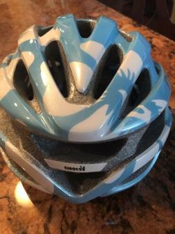 Giro Verona Youth Girls Bike Helmet Ice Blue Flowers
