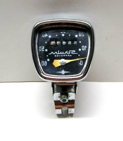 Vintage Schwinn Bike Speedometer Head w/Bracket