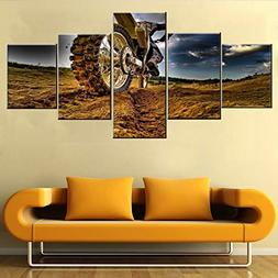Wall Pictures for Living Room Motocross Paintngs 5 Piece Pri