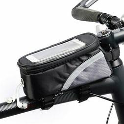 Waterproof Bicycle Moilbe Phone Frame Bag Moutain Road Bike
