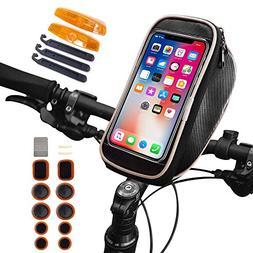 Waterproof Bike Bag, Smartphone Bicycle Bag, Bike Handlebar