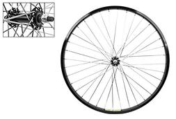 Wheel Front 26 x 1.75 Black Alloy Cruiser, 3/8 Alloy Silver