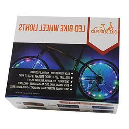 LED Bike Wheel Lights - Brilliant Blue LEDs to Light Up 2 Bi