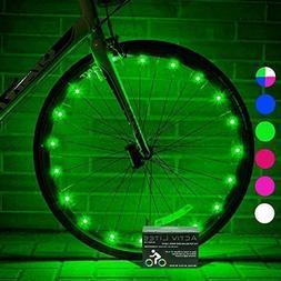 Activ Life Wheel Lights  Fun Bicycle Spoke Wire & Bike Frame