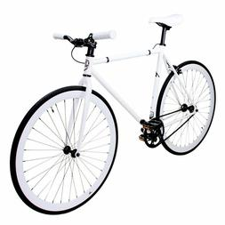 Zycle Fix White Out Single Speed Fixed Gear Fixie Road Bike